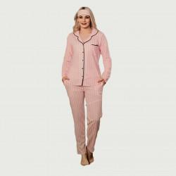 Pijama chaqueta tras algodón 100%, Malmoe