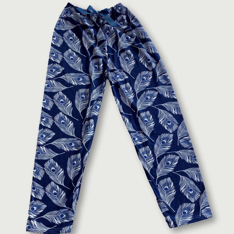 Pantalón pijama estampado algodón 100%, peacock