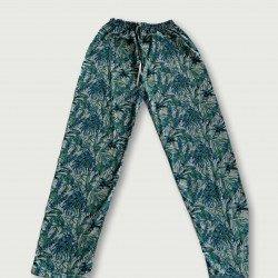 Pantalón pijama estampado algodón 100%, grey jungle
