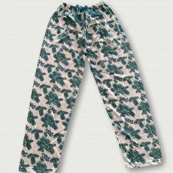 Pantalón pijama estampado algodón 100%, Green Feather
