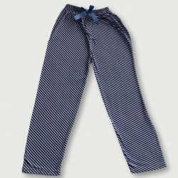 Pantalón pijama estampado algodón 100%, blue and white stripe