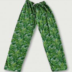 Pantalón pijama estampado algodón 100%, green jungle