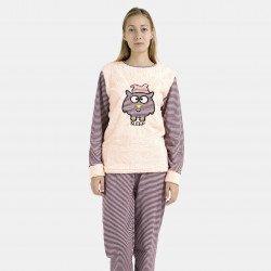 Pijama afelpado salon bordado