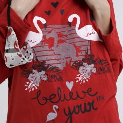 Pijama de algodón peinado 100% de la mejor calidad, believe in you, detalle del dibujo