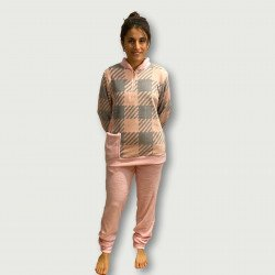 Pijama coralina invierno mujer barato color rosa