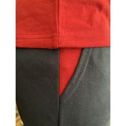 Pijama hombre bordado, algodón 100% Modelo DAX, detalle del bolsillo