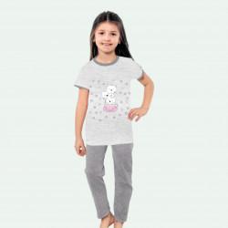 Pijama de verano para niña de algodón 100%.