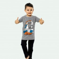 Pijama de verano para niños de algodón 100%. Modelo Robot