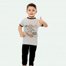 Pijama de verano para niños de algodón 100%.
