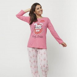 Pijama mujer estampado,...