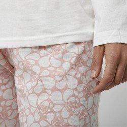 Pijama barato mujer primavera estampado algodón 100% Mod. MARIPOSAS, detalle pantalón