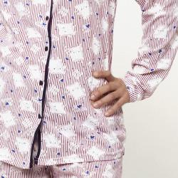 Pijama chaqueta de algodón 100%, Modelo ROMA