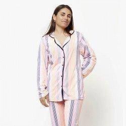 Pijama chaqueta de algodón 100%, Modelo TORINO