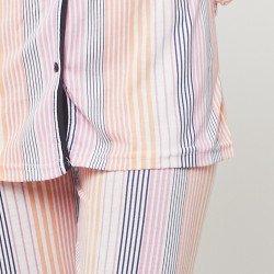 Pijama chaqueta de algodón 100%, Modelo TORINO, detalle de la manga