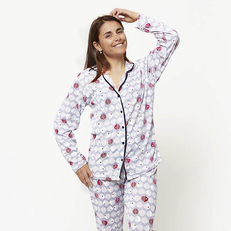 Pijama chaqueta de algodón 100%, Modelo VERONA