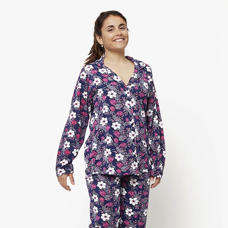 Pijama chaqueta de algodón 100%, Modelo MILAN