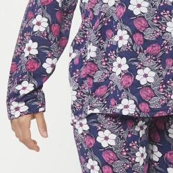 Pijama chaqueta de algodón 100%, Modelo MILAN, detalle de la manga