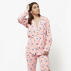 Pijama chaqueta de algodón 100%, Modelo TREVISO