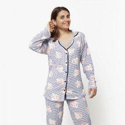 Pijama chaqueta de algodón 100%, Modelo TRIESTE