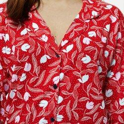 Pijama chaqueta de algodón 100%, Modelo NAPOLI, detalle parte delantera