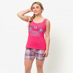 Pijama compuesto por una camiseta de tirantes y pantalones cortos de algodón 100% modelo Elba