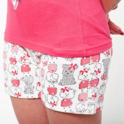 Pijama de verano para mujer con camiseta de tirantes y pantalones cortos de algodón 100%, modelo Rin
