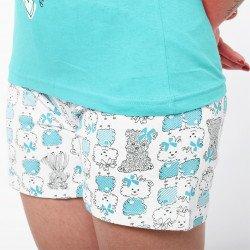 Pijama de verano para mujer con camiseta de tirantes y pantalones cortos de algodón 100%, modelo Neisse