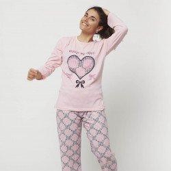 Pijama barato mujer primavera estampado algodón 100% Mod. ALWAYS