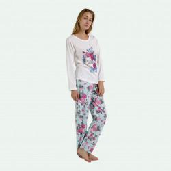 Pijama barato mujer de invierno estampado, algodón 100% Beautiful Girl