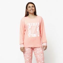 Pijama de mujer de algodón peinado 100% de la mejor calidad, FEELING