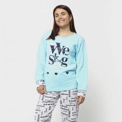 Pijama de mujer de algodón peinado 100% de la mejor calidad, WE STRONG