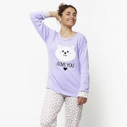 Pijama de mujer de algodón peinado 100% de la mejor calidad,I LOVE YOU