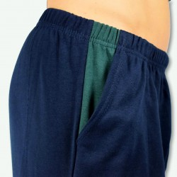 Pijama hombre bordado, algodón 100% Modelo TOURS, detalle del bordado