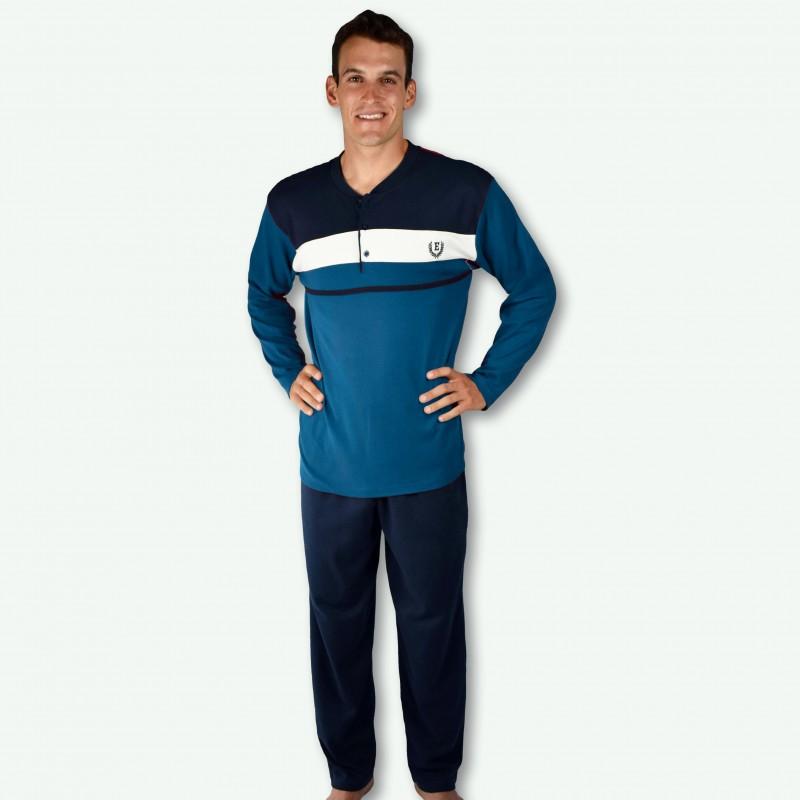 pijama hombre bordado, algodón 100% Modelo gap,