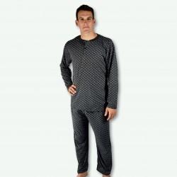 Pijama hombre modelo Thana color gris