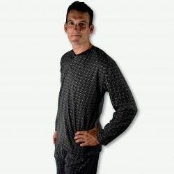 Pijama hombre modelo SAAS color gris oscuro