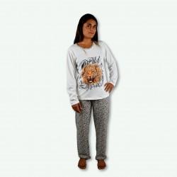 Pijama Wilds, camisa y pantalón largo, pijama de otoño invierno