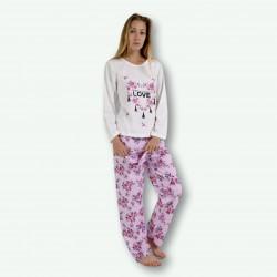 Pijama mujer estampado, ideal para otoño, modelo LOVE