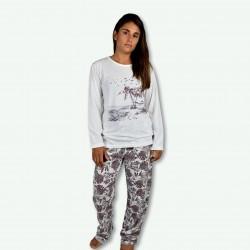 Pijama estampando de mujer otoño invierno, modelo cool MOMENTS