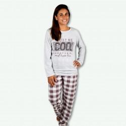 Pijama estampando de mujer otoño invierno, modelo cool grey