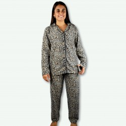 Pijama chaqueta Boston, tejido polar muy suave