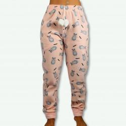 Pantalón pijama polar mujer estampado