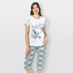 pijama mujer pirata, Sena azúl