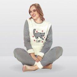 Pijama mujer afelpado, Cat!