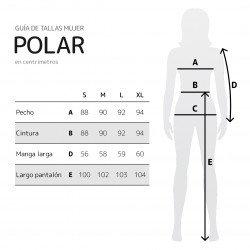 Tallas Pijama polar para mujer